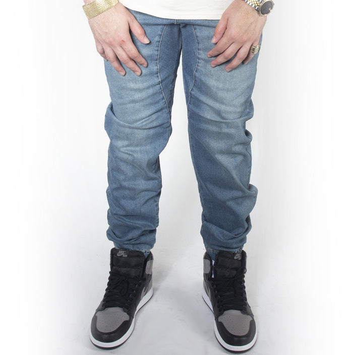 Vintage Blue Denim Jogger Pants JG803