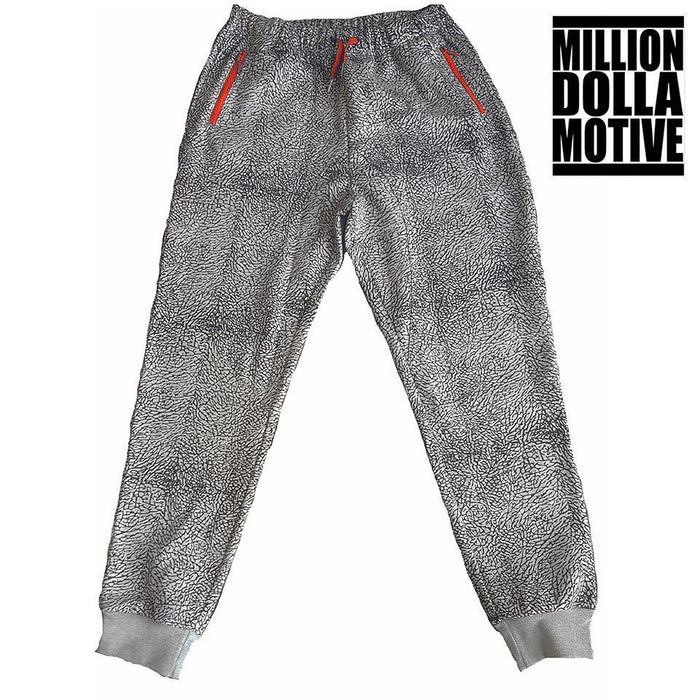 Elephant Print Joggers w/ Red - Million Dolla Motive