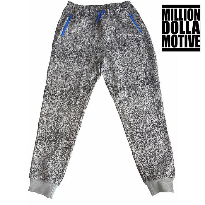 Elephant Print Joggers w/ Sport Blue - Million Dolla Motive