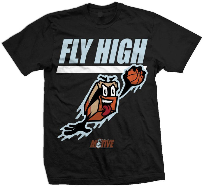 Fly High Shoe Box - Black T-Shirt