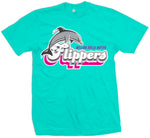 Flippers - Aqua Blue T-Shirt