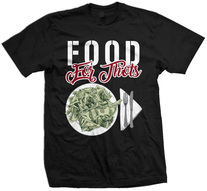 Food For Thots - Black T-Shirt
