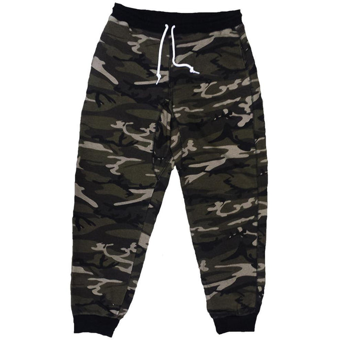 Forest Green Camo Terry Joggers - Million Dolla Motive
