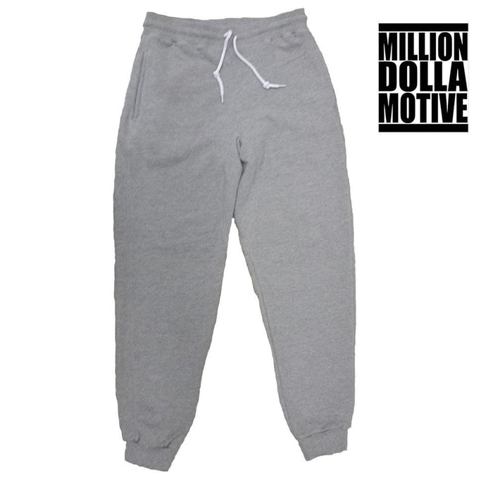 Heather Grey Terry Joggers - Million Dolla Motive