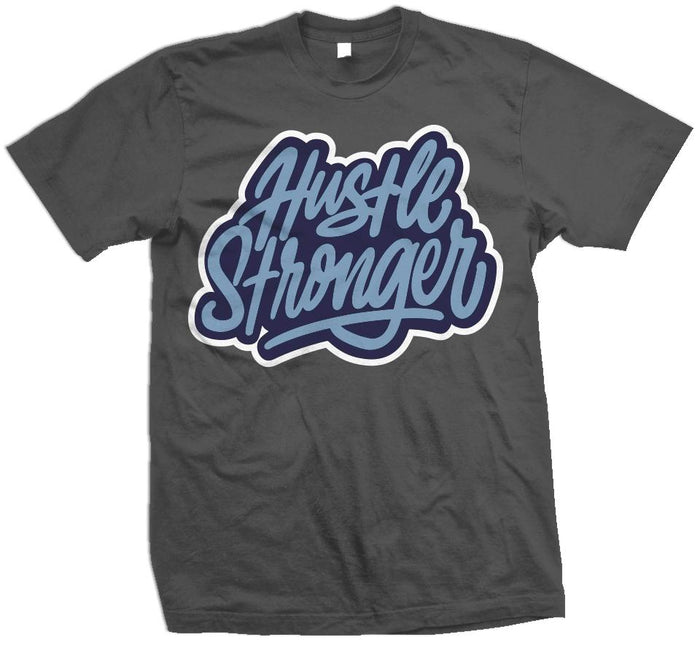 Hustle Stronger Flint - Dark Grey T-Shirt
