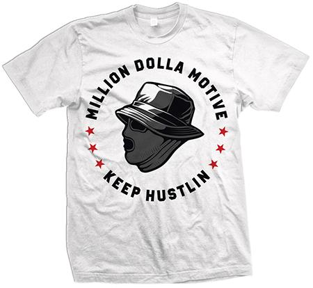 Keep Hustlin Mask - White T-Shirt - Million Dolla Motive