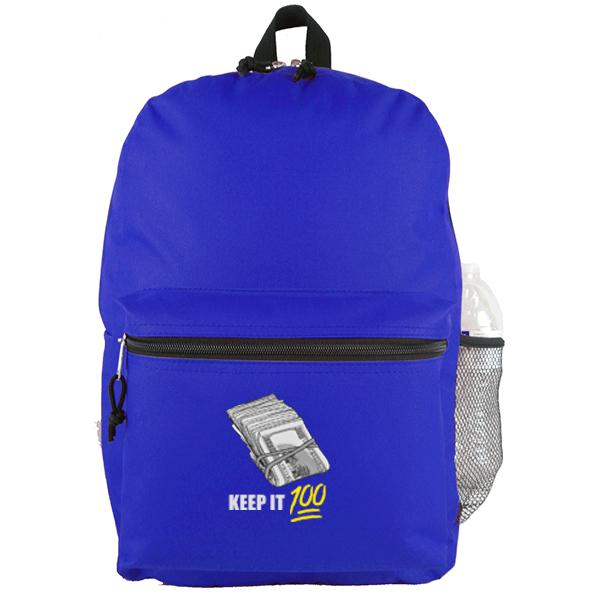 Keep It 100 - Royal Blue Backpack