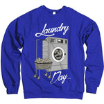 Laundry Day - Royal Blue Crewneck Sweatshirt