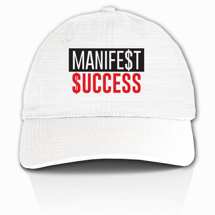 Manifest Success -Red on White Dad Hat