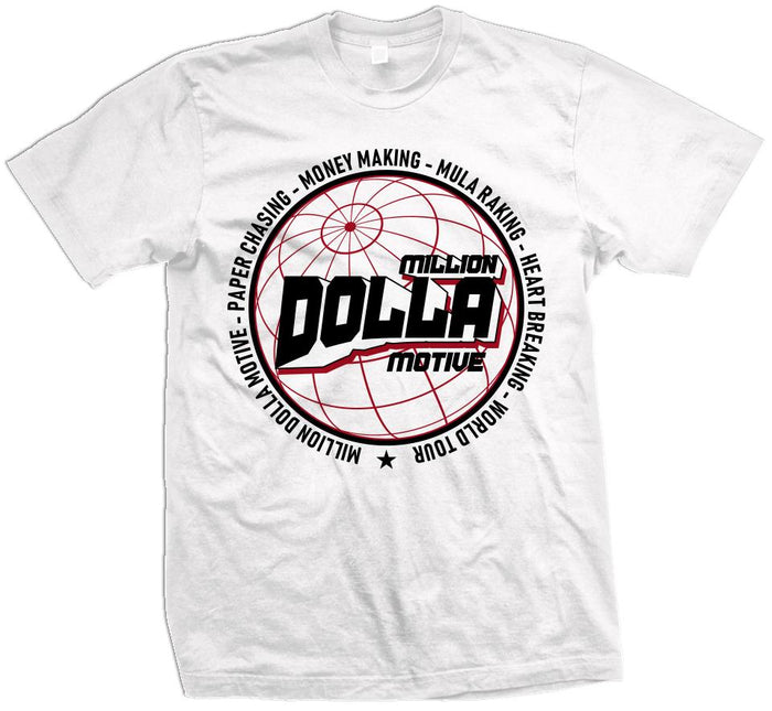 Million Dolla World Tour - White T-Shirt
