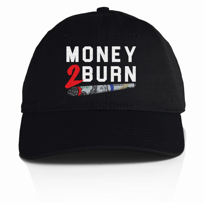 Money 2 Burn - Black Dad Hat