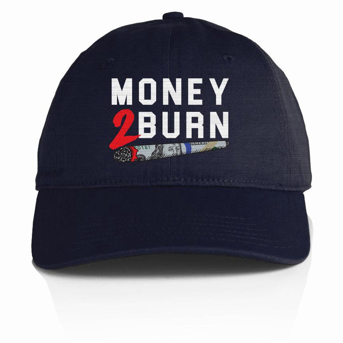 Money 2 Burn - Navy Blue Dad Hat