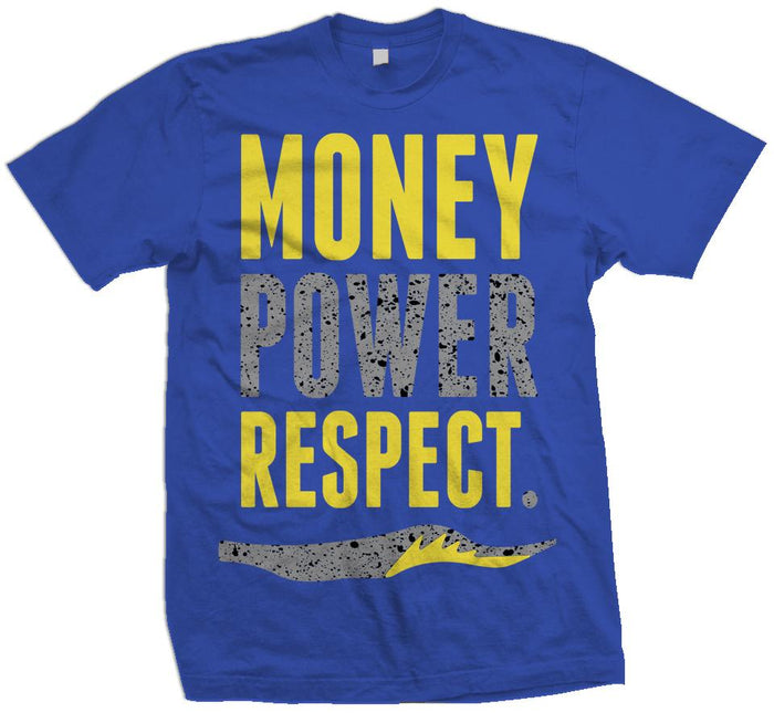 Money Power Respect - Royal Blue T-Shirt - Million Dolla Motive