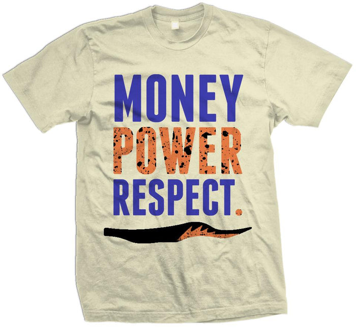 Money Power Respect - Natural Sail T-Shirt - Million Dolla Motive