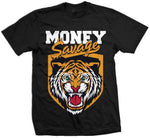 Money Savage - Orange on Black T-Shirt