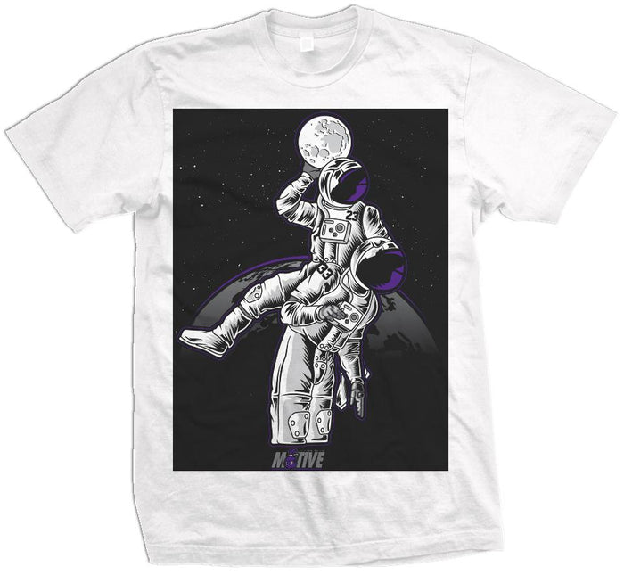 Moonman Dunk - White T-Shirt - Million Dolla Motive