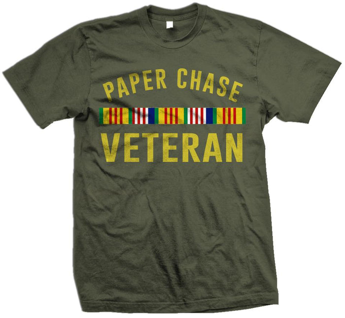 Paper Chase Veteran - Olive T-Shirt