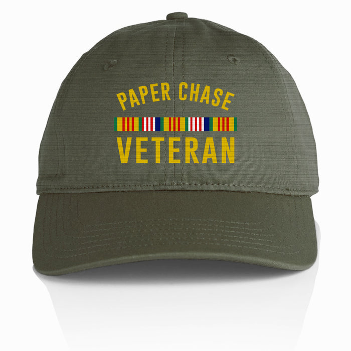 Paper Chase Veteran - Olive Dad Hat
