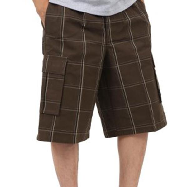 Plaid Cargo Shorts - Brown - Million Dolla Motive
