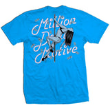 Pole Dancer Money - Turquoise Blue T-Shirt