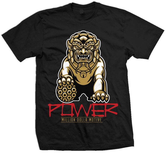 Power - Red/Gold on Black T-Shirt
