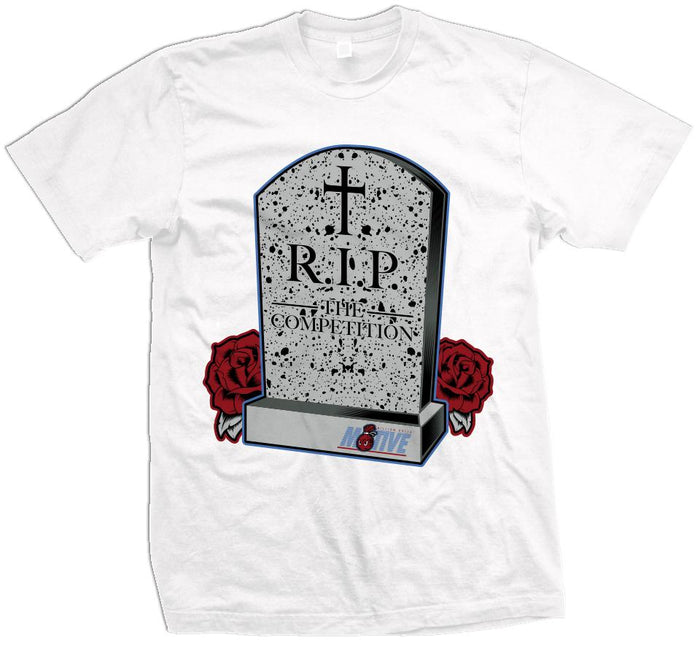RIP The Competition (What The) - Military Blue/Red on White T-Shirt