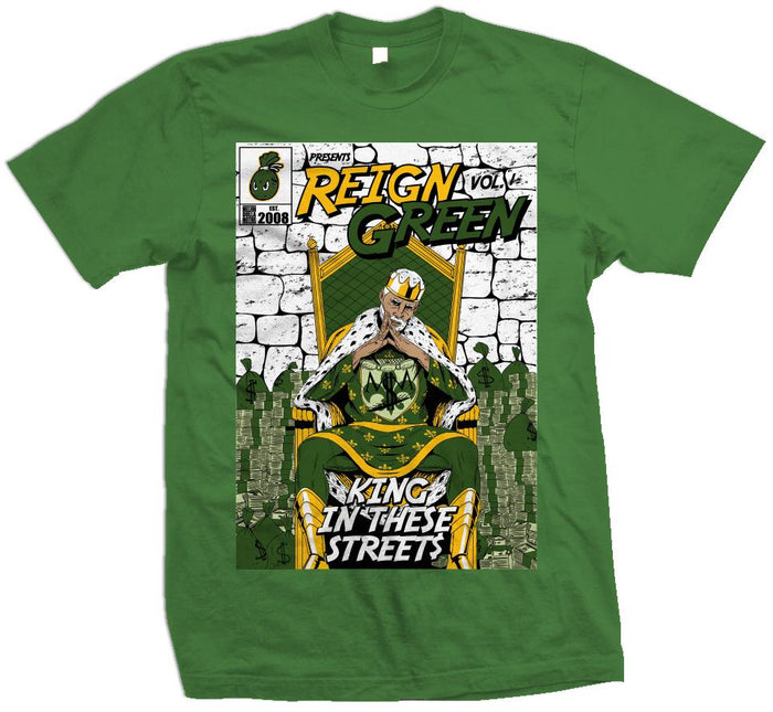 Reign Green Comic V. 1 - King In These Streets -  Kelly Green T-Shirt