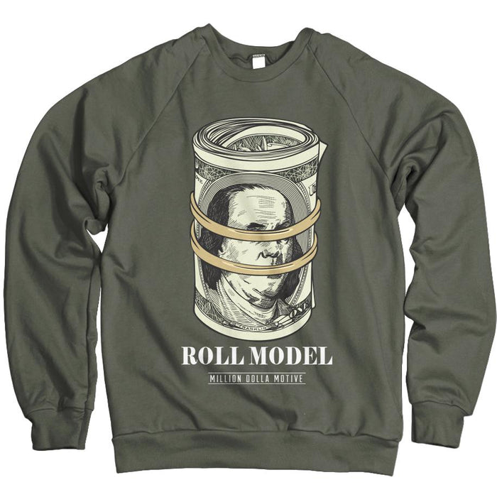 Roll Model - Olive Crewneck Sweatshirt - Million Dolla Motive