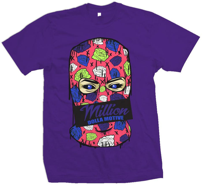 Roses Mask - Purple T-Shirt
