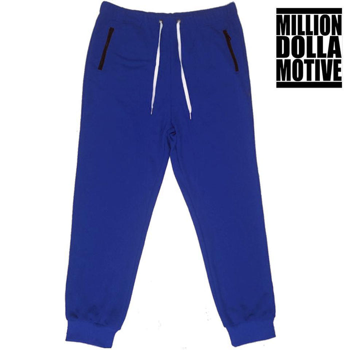Royal Blue with Black Zipper Pockets - Million Dolla Motive