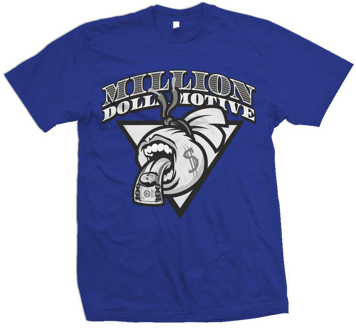 Screaming Mouth Money Bag - Royal Blue T-Shirt