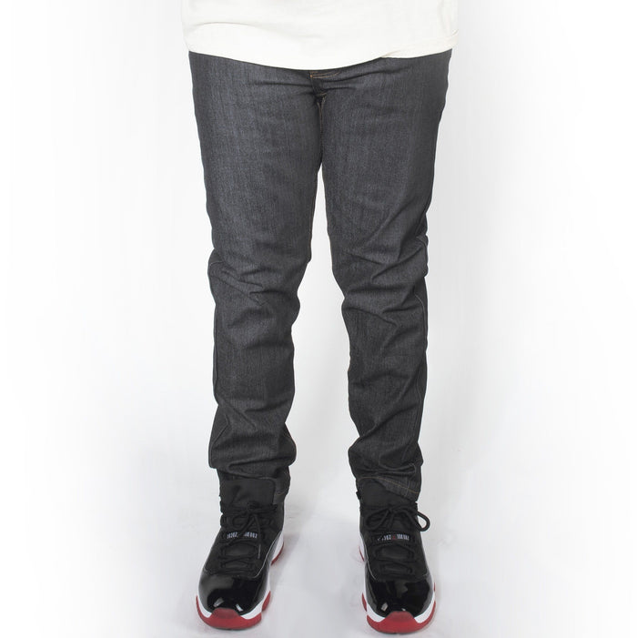 Black with Timber Skinny Fit Raw Denim Jeans DL936