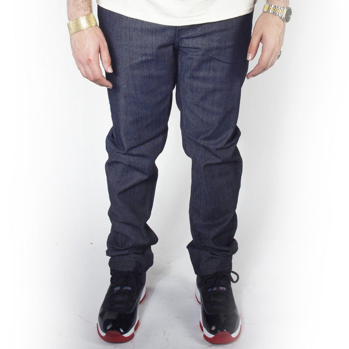 Indigo with Indigo Skinny Fit Raw Denim Jeans DL936