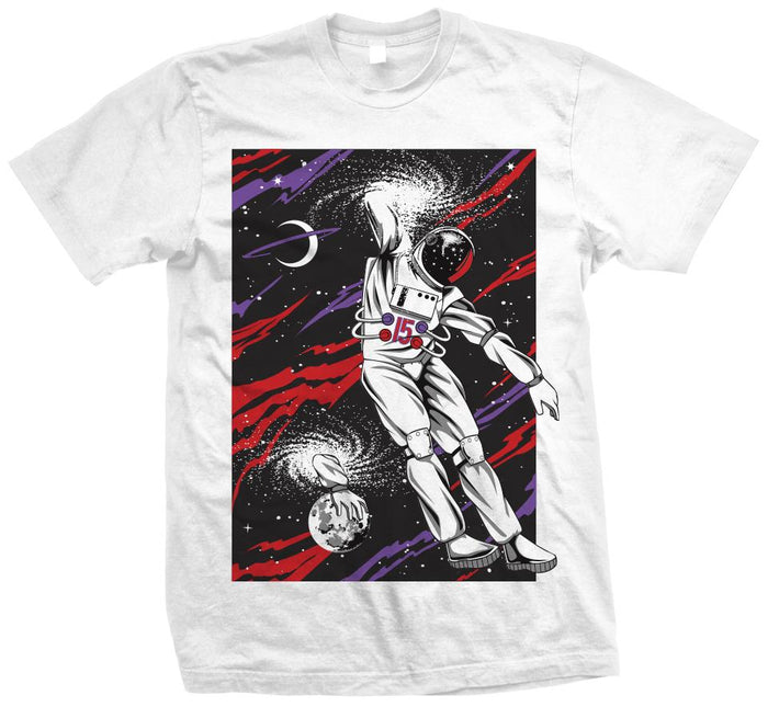 Space Elbow Dip Dunk - White T-Shirt