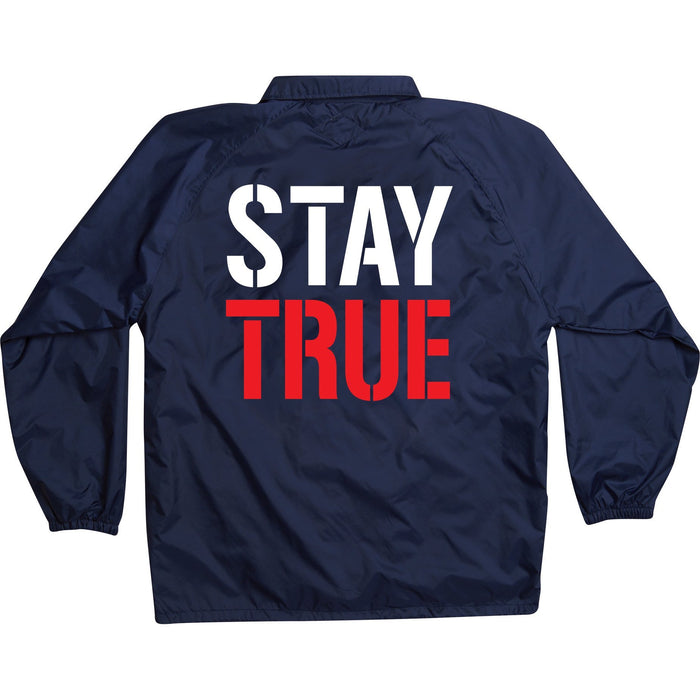 Stay True - Navy Coach Jacket