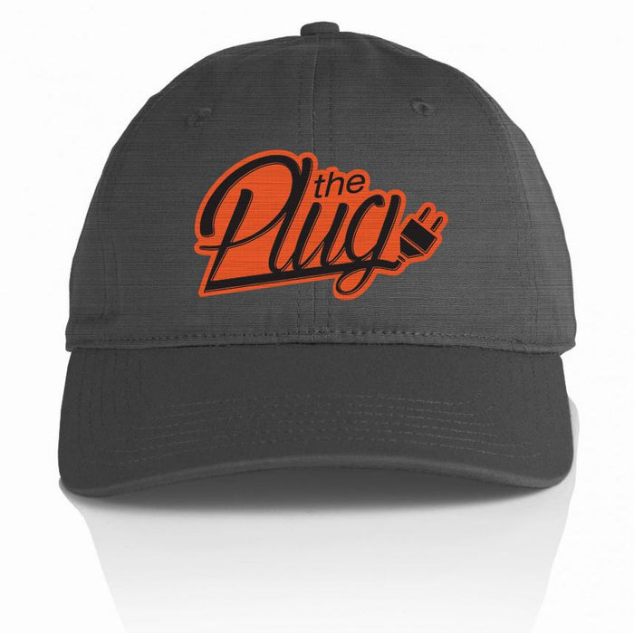The Plug - Orange on Dark Grey Dad Hat