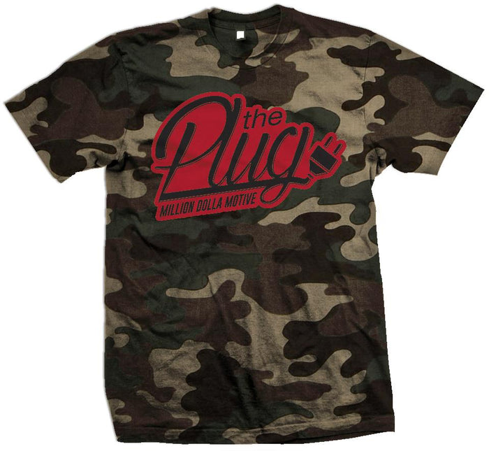 The Plug - Forest Green Camo T-Shirt