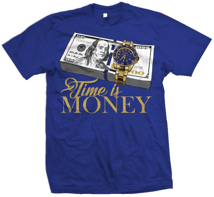 Time Is Money - Royal Blue T-Shirt