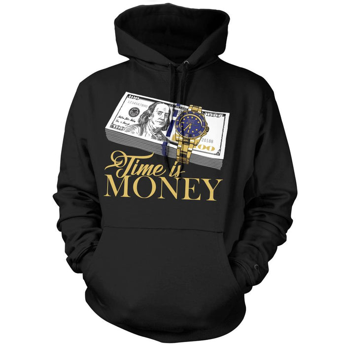 Time Is Money - Black Hoodie Sweatshirt - Million Dolla Motive
