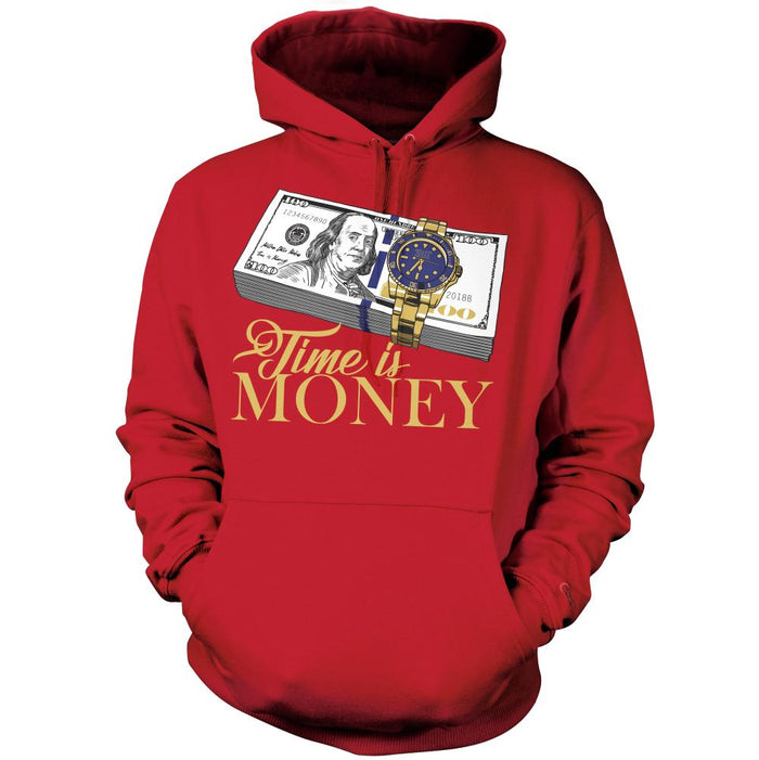 Time Is Money - Red Hoodie Sweatshirt