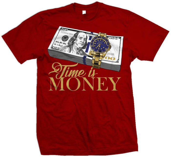 Time Is Money - Red T-Shirt