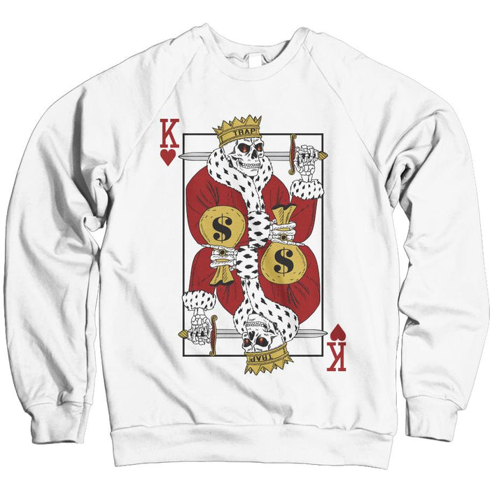 Trap King - White Crewneck Sweatshirt
