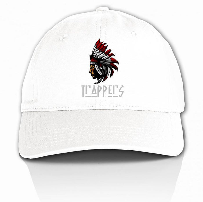 Trappers - Red on White Dad Hat