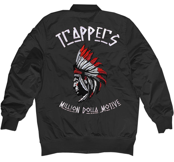 Trappers - Black Bomber Jacket - Million Dolla Motive