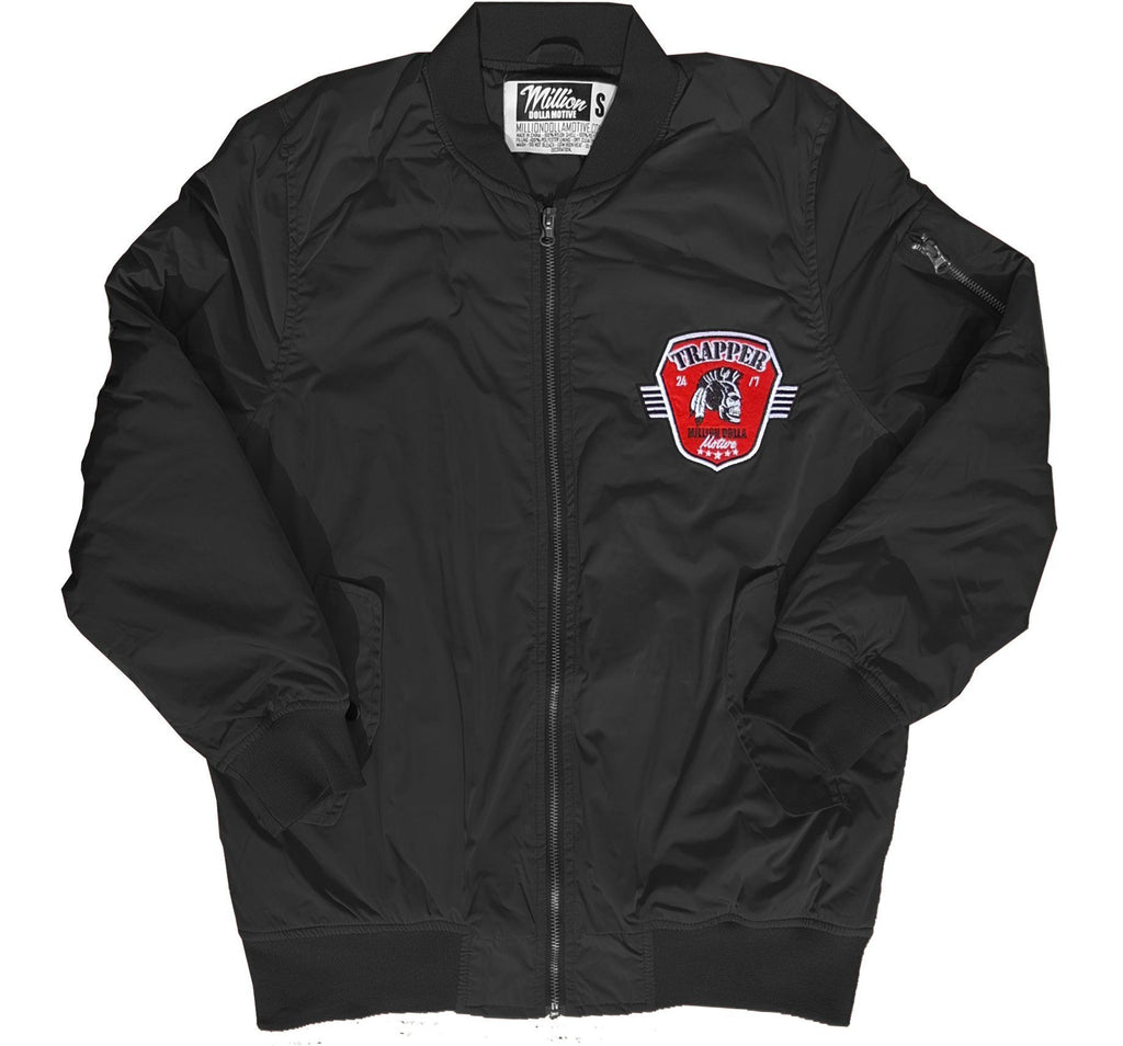 0614af4e7b898f Trappers - Black Bomber Jacket – Million Dolla Motive