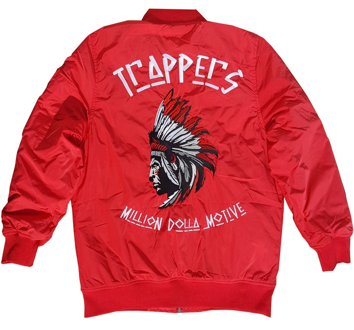 Trappers - Red Bomber Jacket - Million Dolla Motive