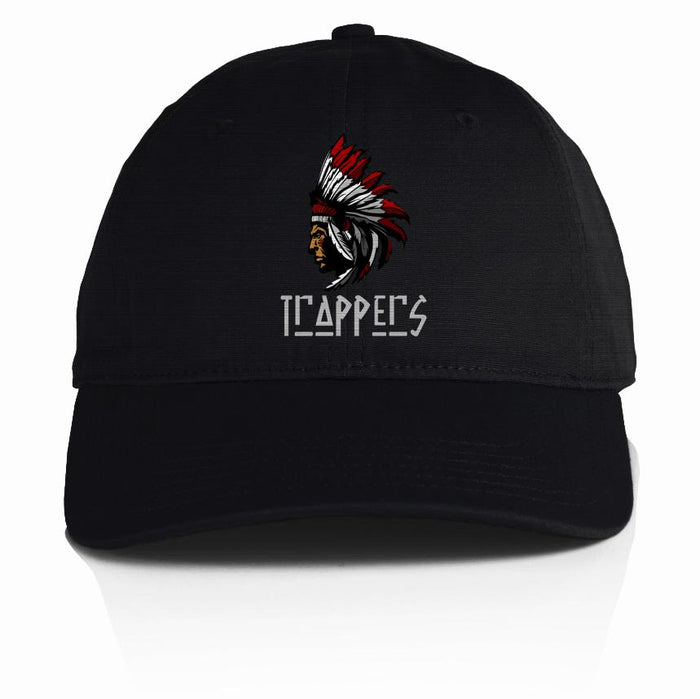 Trappers - Red on Black Dad Hat