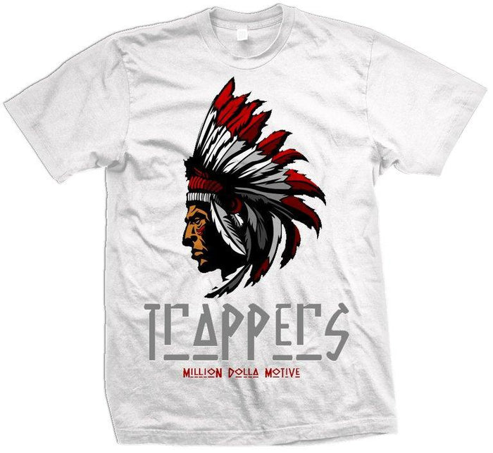 Trappers - Red on White T-Shirt - Million Dolla Motive