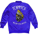 Trappers - Royal Blue Bomber Jacket with Yellow