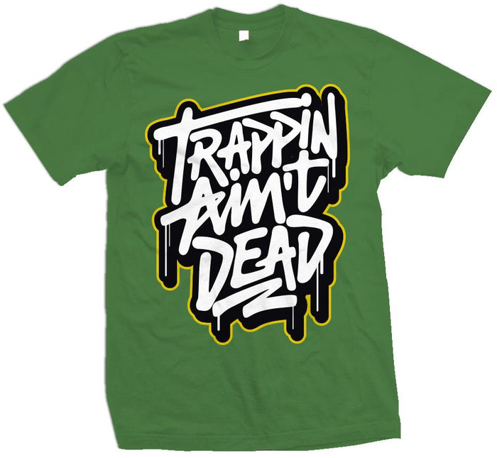 Trappin Ain't Dead Graffiti - Apple Green T-Shirt